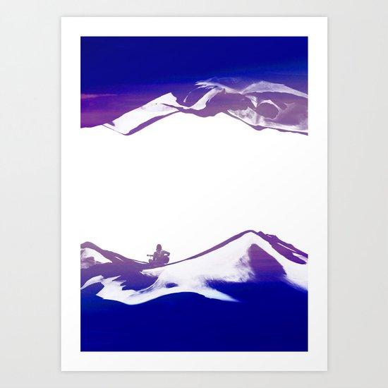 Purple Song of isolation Art Print