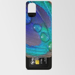 Peacock feather & water droplets Android Card Case