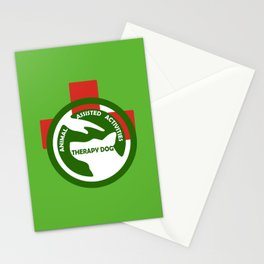 Animal Assisted Activities  - THERAPY DOG logo 2 Stationery Cards