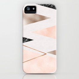Splices and triangles iPhone Case
