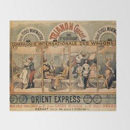 1896 Orient Express musical revue Paris Throw Blanket