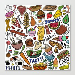 Foodies Canvas Print
