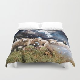 Counting Sheep II Duvet Cover