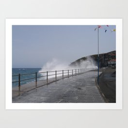 Spray Splashing over Promenade Art Print