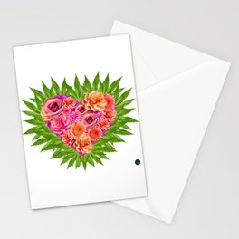 i Heart Pot Leaves Bouquet Stationery Cards