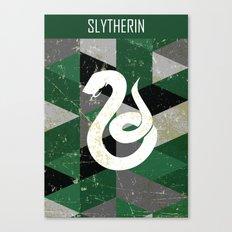 Slytherin House Pattern Canvas Print