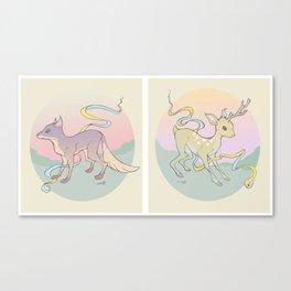 Fox & Fawn Canvas Print