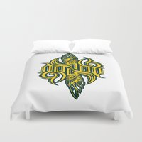 warcraft Duvet Covers featuring Angel 3K ambigram by LoneLeon