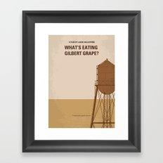 No795 My Whats Eating Gilbert Grape minimal movie poster Framed Art Print