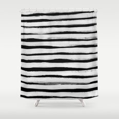 Black and White Stripes II Shower Curtain