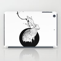 hare iPad Cases featuring hare by Tom Kitchen