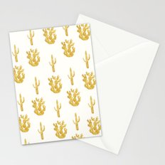Gold Cactus Stationery Cards