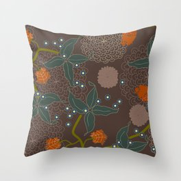 jungle delights chocolate Throw Pillow