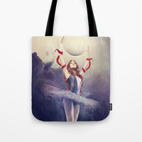 evolution Tote Bags featuring Evolution by Kryseis Retouche
