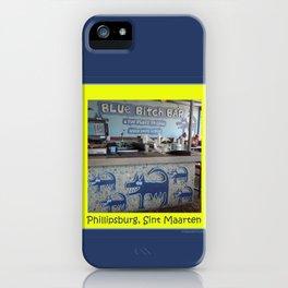 Blue Bitch Bar, St. Maartin Resort Travel iPhone Case