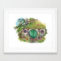 the hobbit Framed Art Prints featuring Hobbit hole by Kris-Tea Books