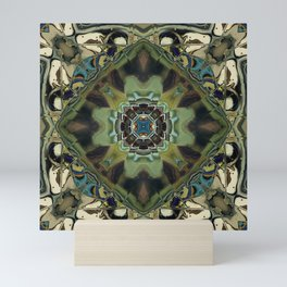 Marbled Moss Mandala Mini Art Print