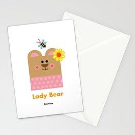 Lady Bear Stationery Cards