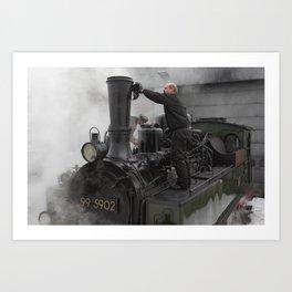 Steam locomotive 99 5902 from 1897 Art Print