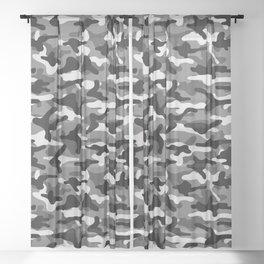 Urban Camouflage Sheer Curtain