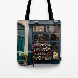 Flower Shop, Paris Tote Bag