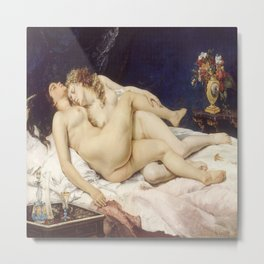 Gustave Courbet's The Sleepers Metal Print