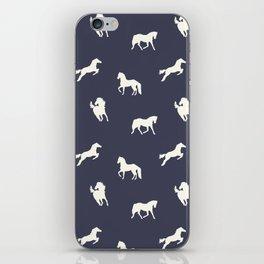 Horse Print (Navy Slate) iPhone Skin