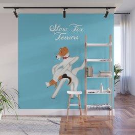 Slow Fox Terriers Wall Mural