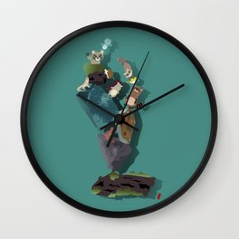 Animals and stones Wall Clock
