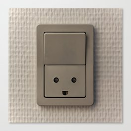 Smiling Power Outlet Canvas Print