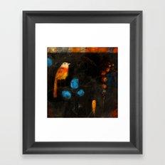 LONE BIRD Framed Art Print
