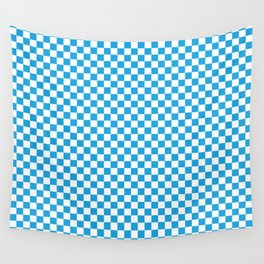 Oktoberfest Bavarian Blue and White Checkerboard Wall Tapestry