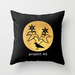 project 40 black Throw Pillow
