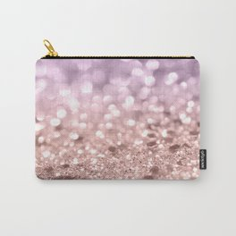 Rose Gold Blush Purple MERMAID Girls Glitter #1 #shiny #decor #art #society6 Carry-All Pouch