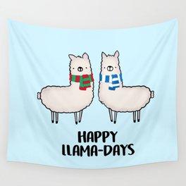 Happy Llama-Days Wall Tapestry