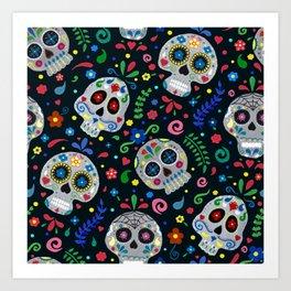 Dia De Los Muertos Calaveras/Sugar Skulls Art Print