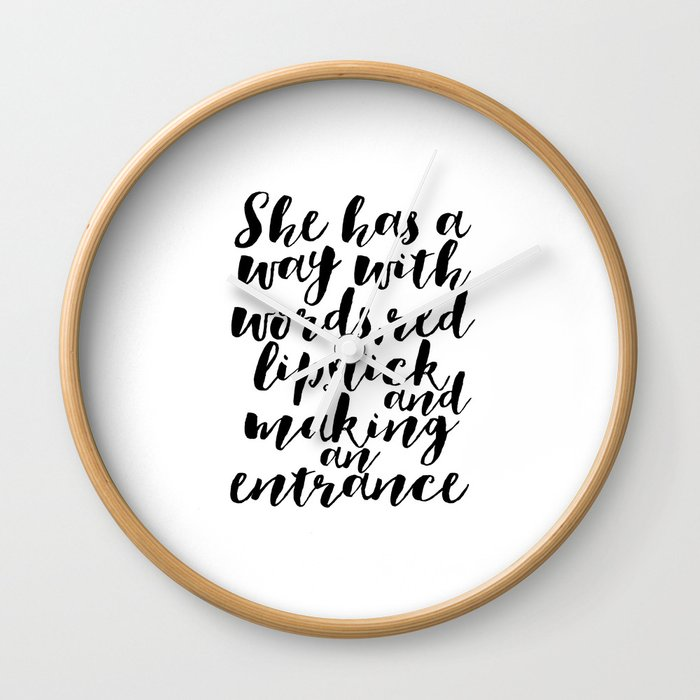 Makeup Quotes Makeup Decor Quotes Fashion Decor Gift For Her Women Gift  Fashionista Boss Lady Office Wall Clock by milos955