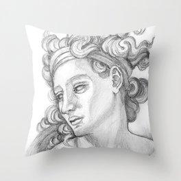 Ignudi after Michael Angelo. Sistine Chapel Throw Pillow