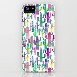 Watercolor Cacti - Pinks - Saguaros iPhone Case