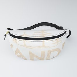 Wander Quote White Gold Fanny Pack