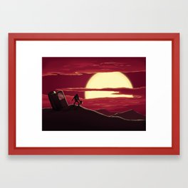 Space Scene Framed Art Print