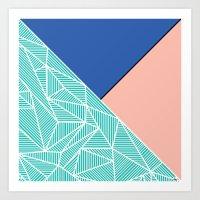 B Rays Geo 4 Art Print
