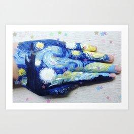 A Starry Hand Art Print