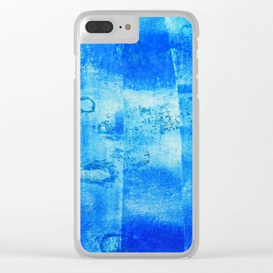 Blue Blue Blue Clear iPhone Case