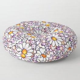 Large Blush Daisies Tiled Floor Pillow