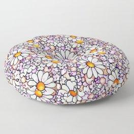 Large Blush Daisies Tiled Floor Pillow