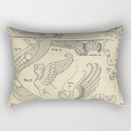 Winged Mythology Rectangular Pillow