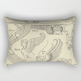 Winged Mythology Rectangular Pillow