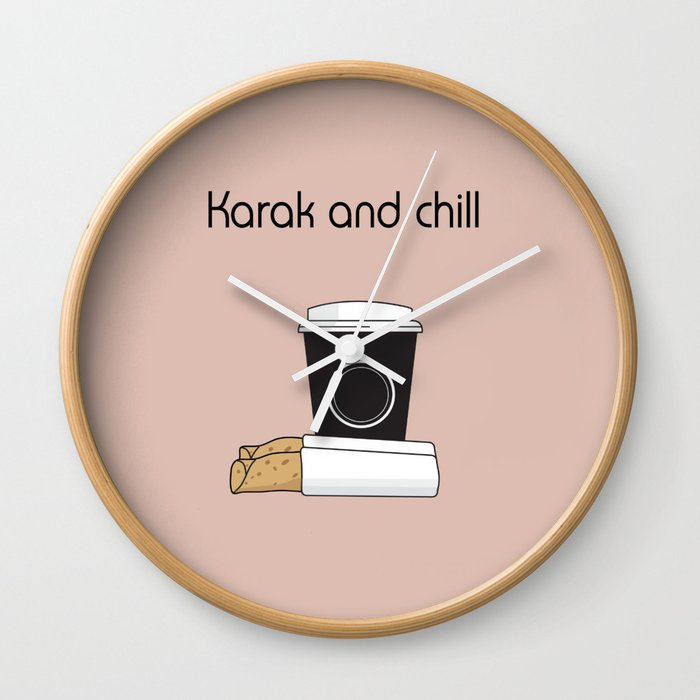 Karak and Chill Wall Clock