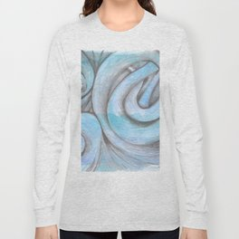 swirl (light blue) Long Sleeve T-shirt